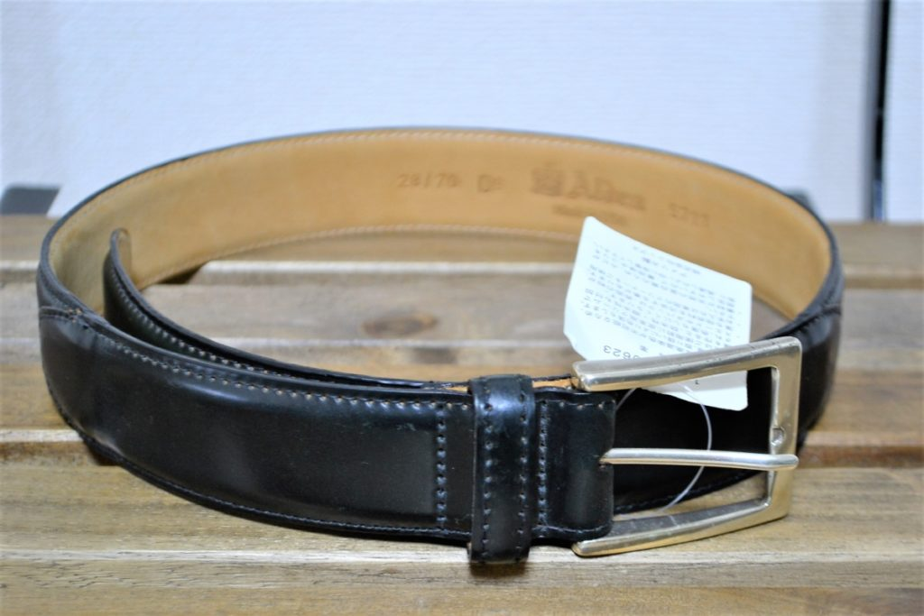 MB 5711 BLACK CORDOVAN Nickel Buckle Dress Belt