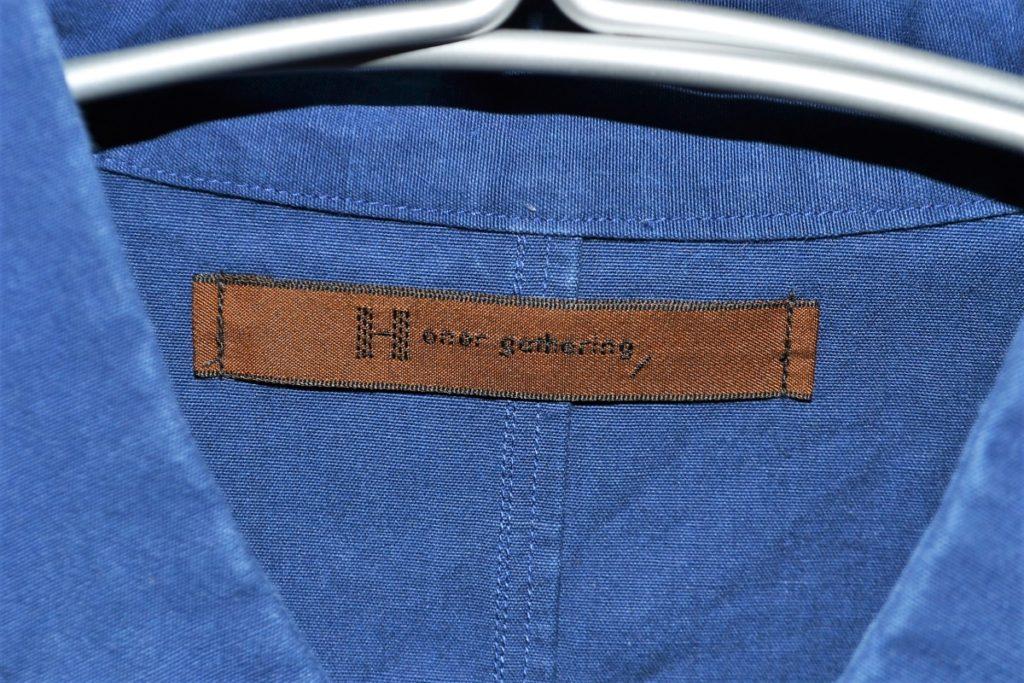 vintage heavy cotton poplin napoleon collarの買取実績画像