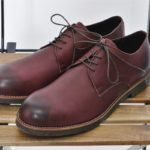 DERBY PLAIN TOE SHOES WATER PROOF LEATHER