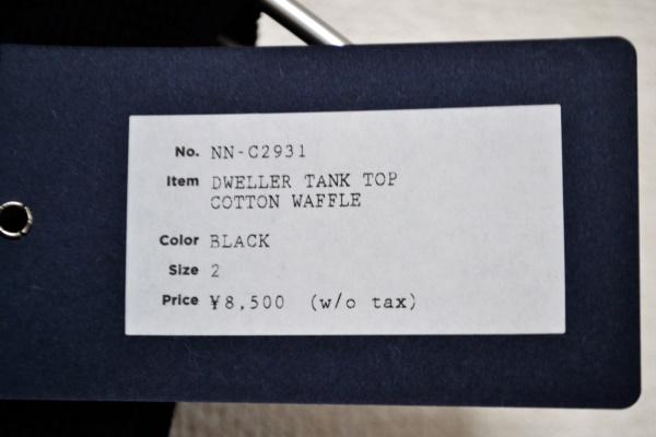 DWELLER TANK TOP COTTON WAFFLEの買取実績画像