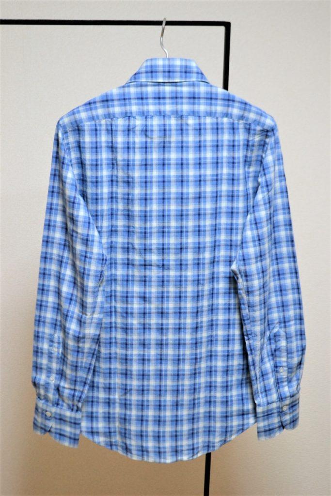 LUIGI ルイジ マドラスチェック ワイドカラーシャツの買取実績画像