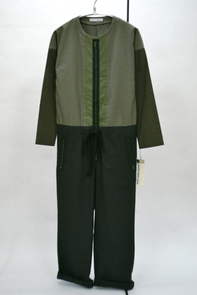 コットン スリートーン ジャンプスーツ