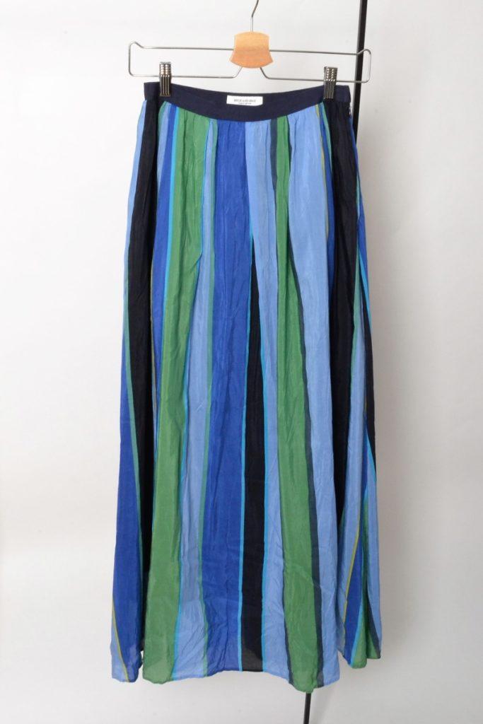 マルチストライプギャザースカート