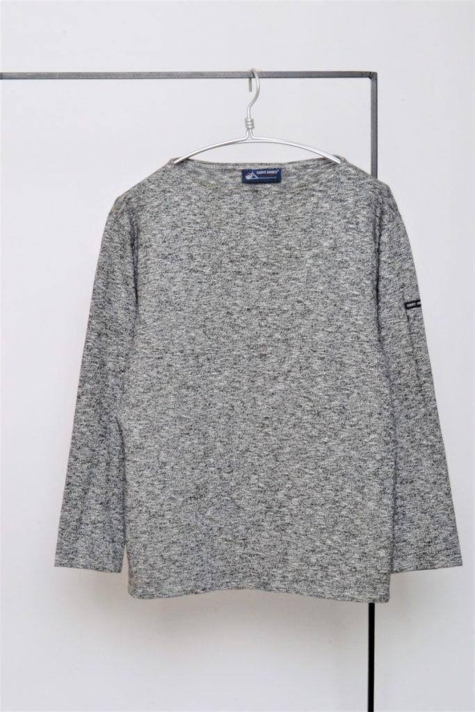 OUESSANT MELANGE SOLID ウエッソンメランジ ミックス杢素材バスクシャツ