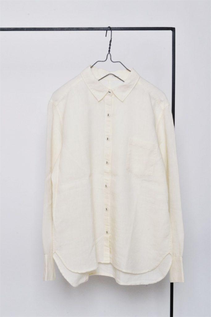 リネンウール ポケット付き シャツ