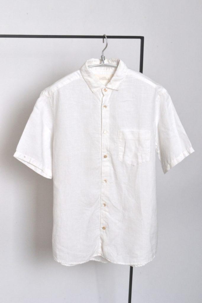 リネン 半袖 シャツ