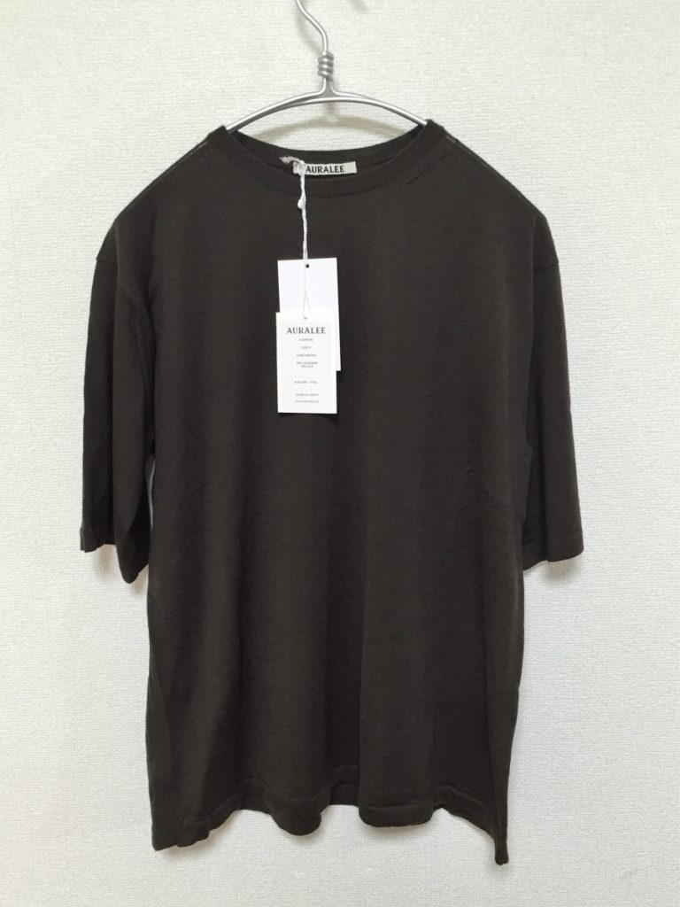 CASHMERE SILK HIGH GAUGE KNIT TEE