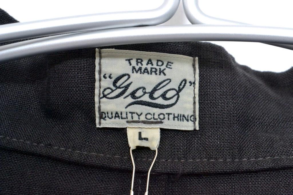 GOLD / LINEN BROAD NO COLLAR COAT リネンブロード ノーカラーコートの買取実績画像