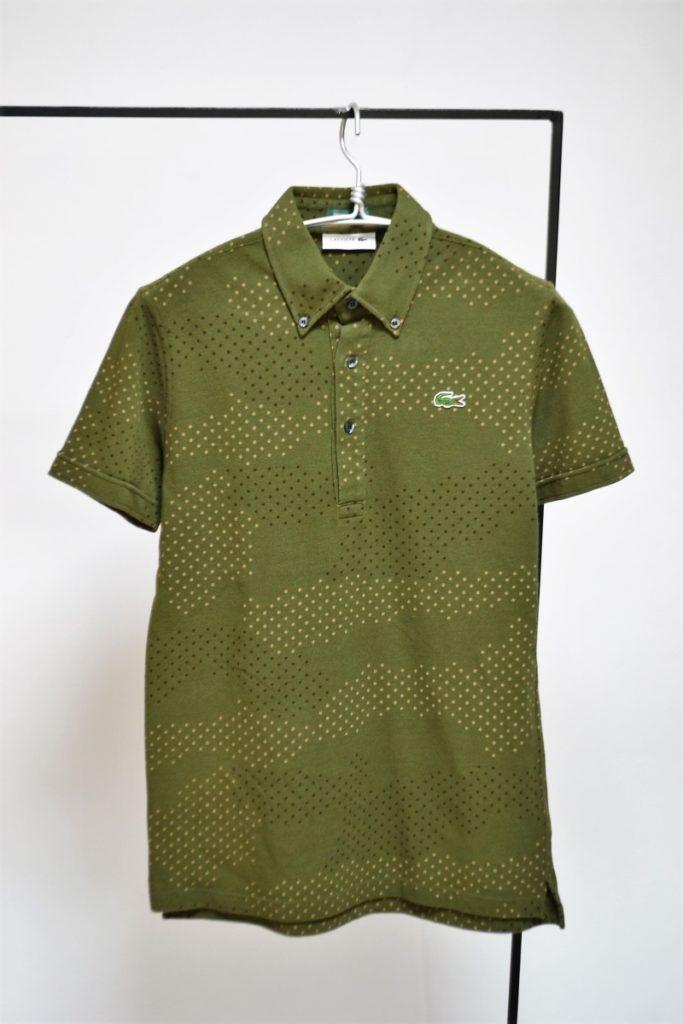 ドット柄 ボタンダウン 鹿の子ポロシャツ
