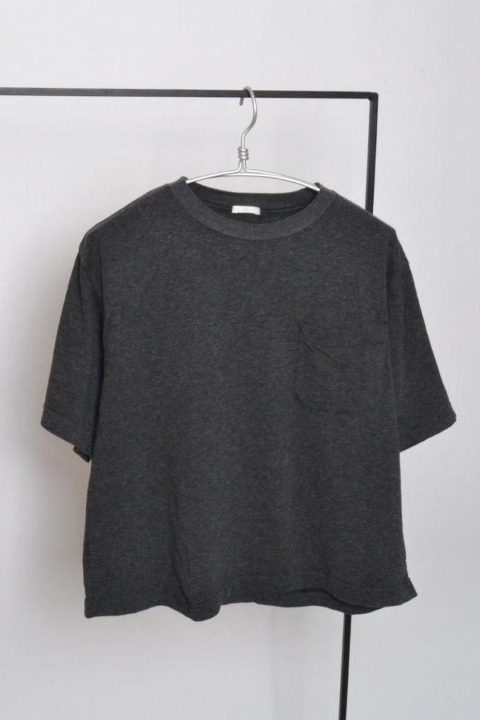 Pocket-Tee 裏毛ハーフスリーブ コットンTシャツ