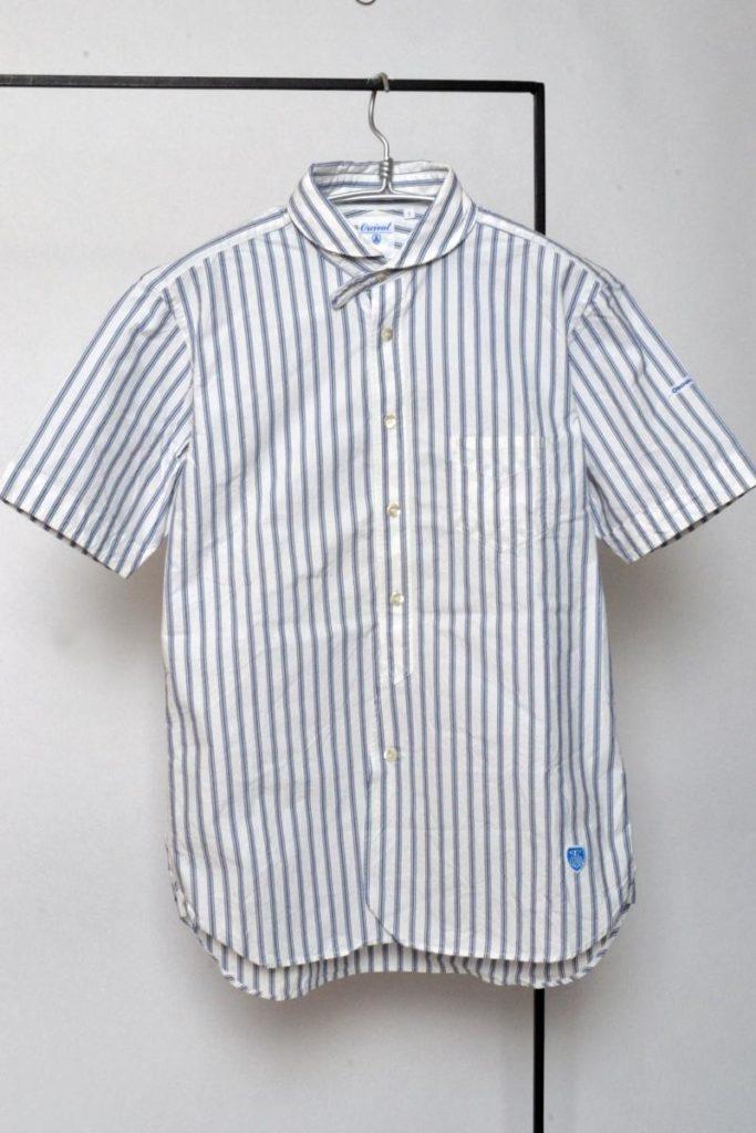 × ORCIVAL / コットンストライプ ショートスリーブシャツ