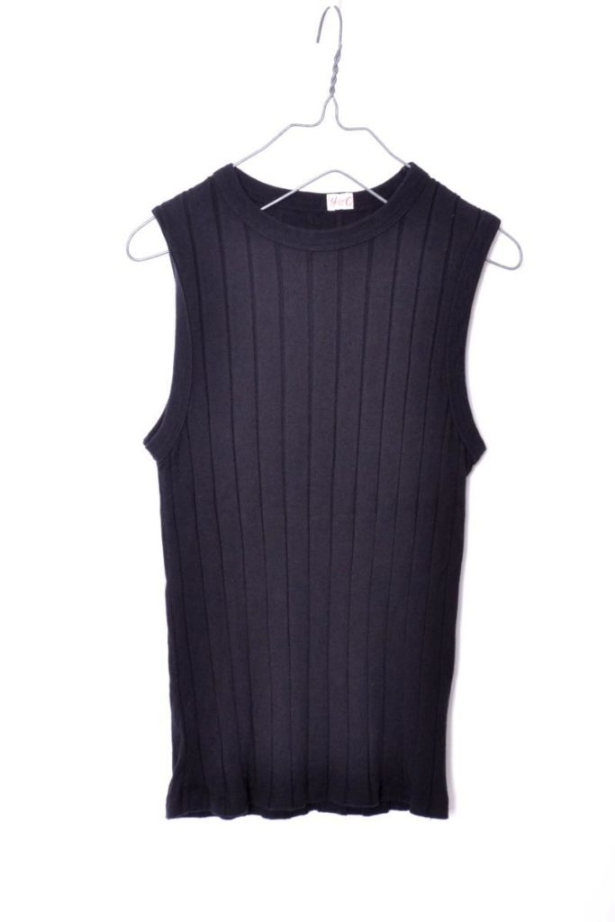 broad rib tank top (black)