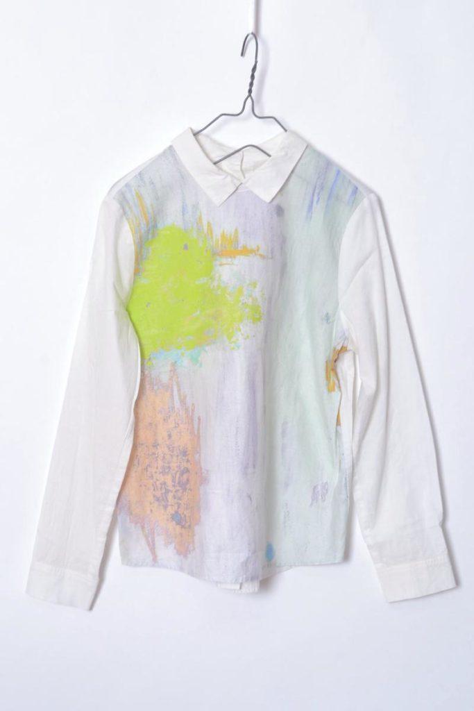 ペンキプリント バックボタンブラウス シャツの買取実績画像
