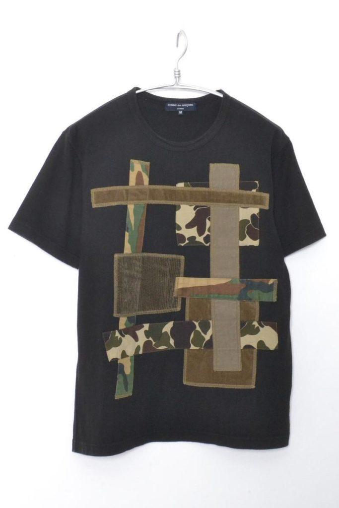 カモフラージュ パッチワークTシャツ