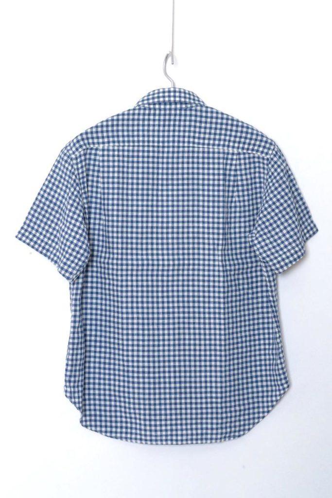 リネンコットン ギンガムチェック ボタンダウン 半袖シャツの買取実績画像