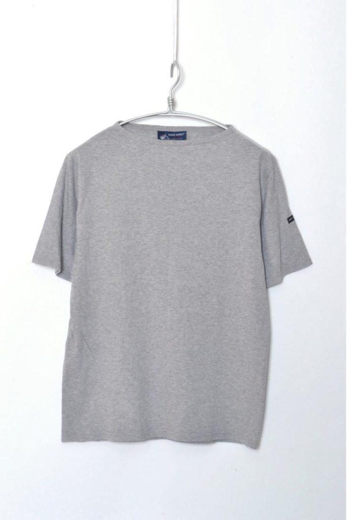 PIRIAC SOLID ピリアック無地 ボートネック半袖Tシャツ