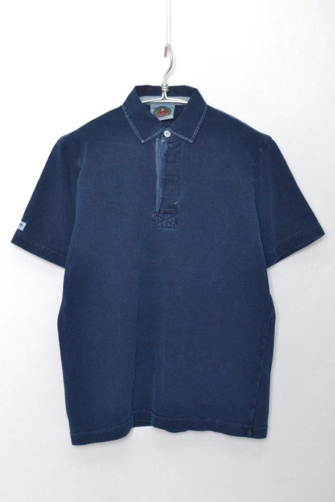 FLAME別注 インディゴ 半袖ラガーシャツ