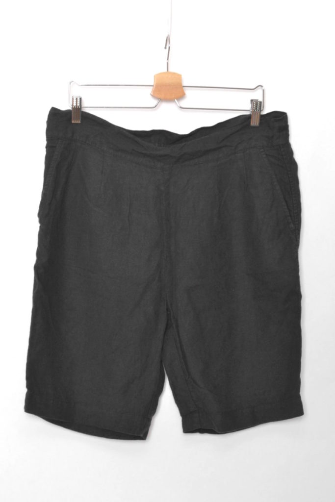 OVER DYED LINEN SHORTS