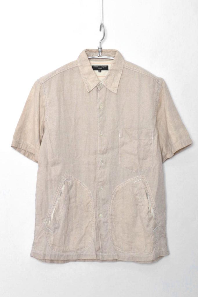 リネン 半袖シャツ
