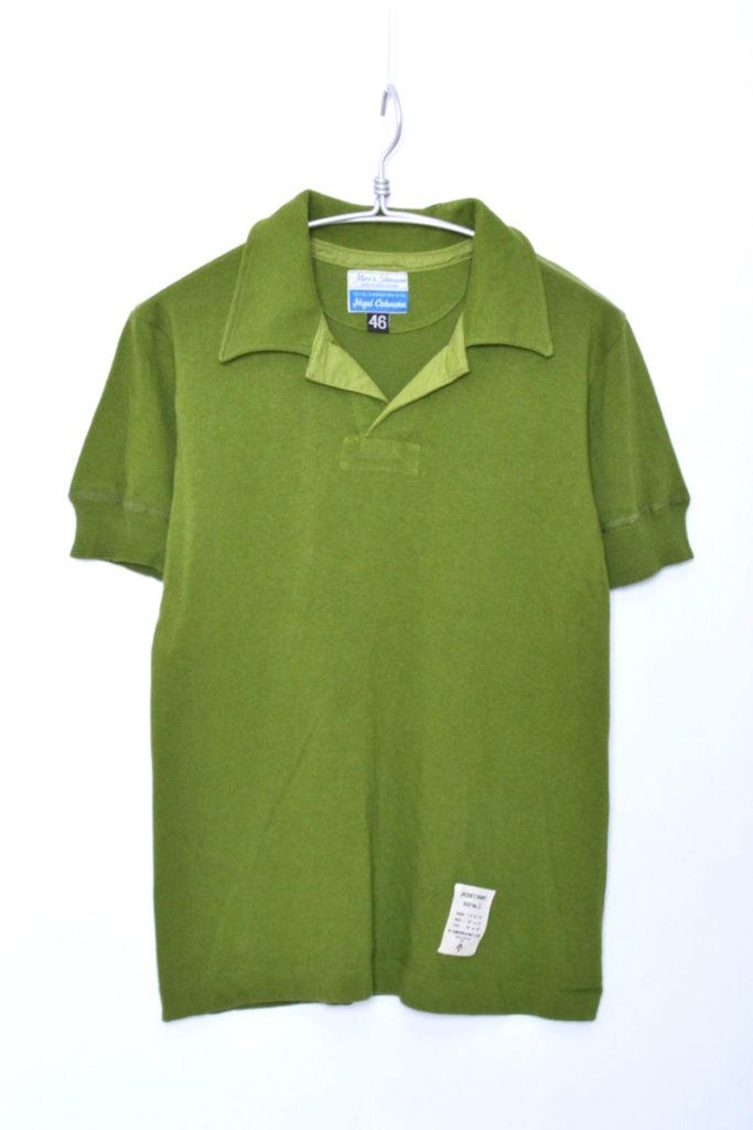 × MERZ B.SCHWANEN / オープンカラー 半袖ポロシャツ