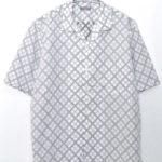 総柄 半袖 オープンカラーシャツ
