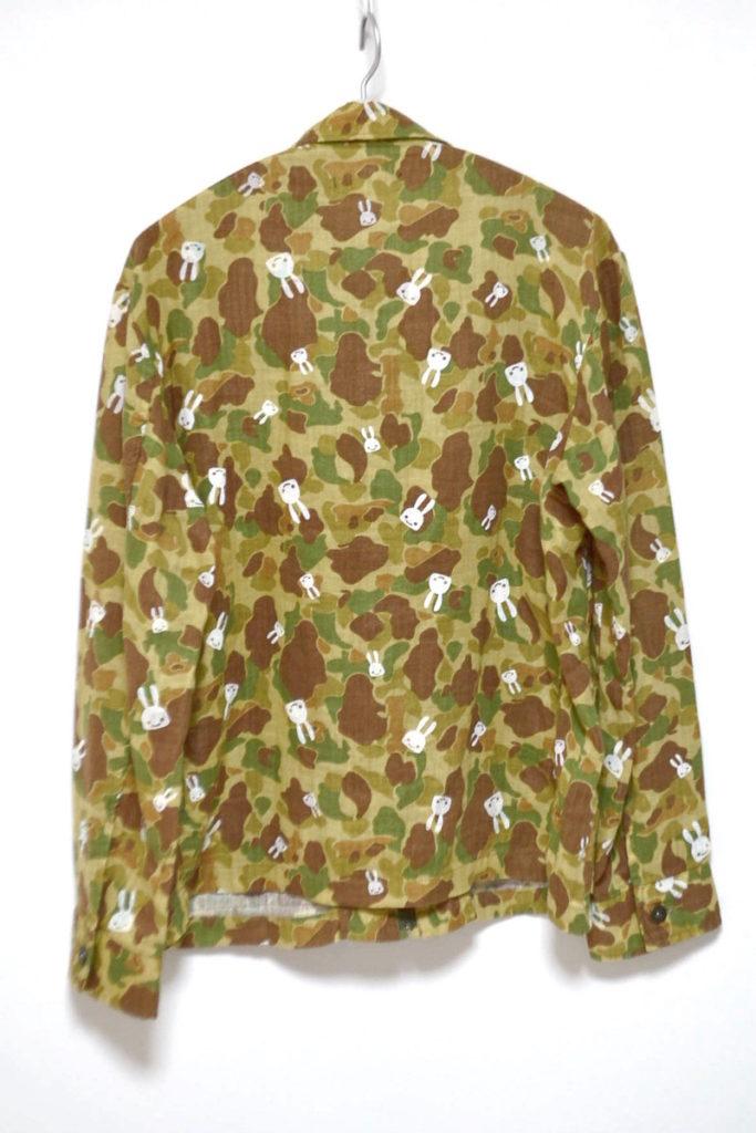 コットンリネン 迷彩柄 ジップシャツジャケットの買取実績画像
