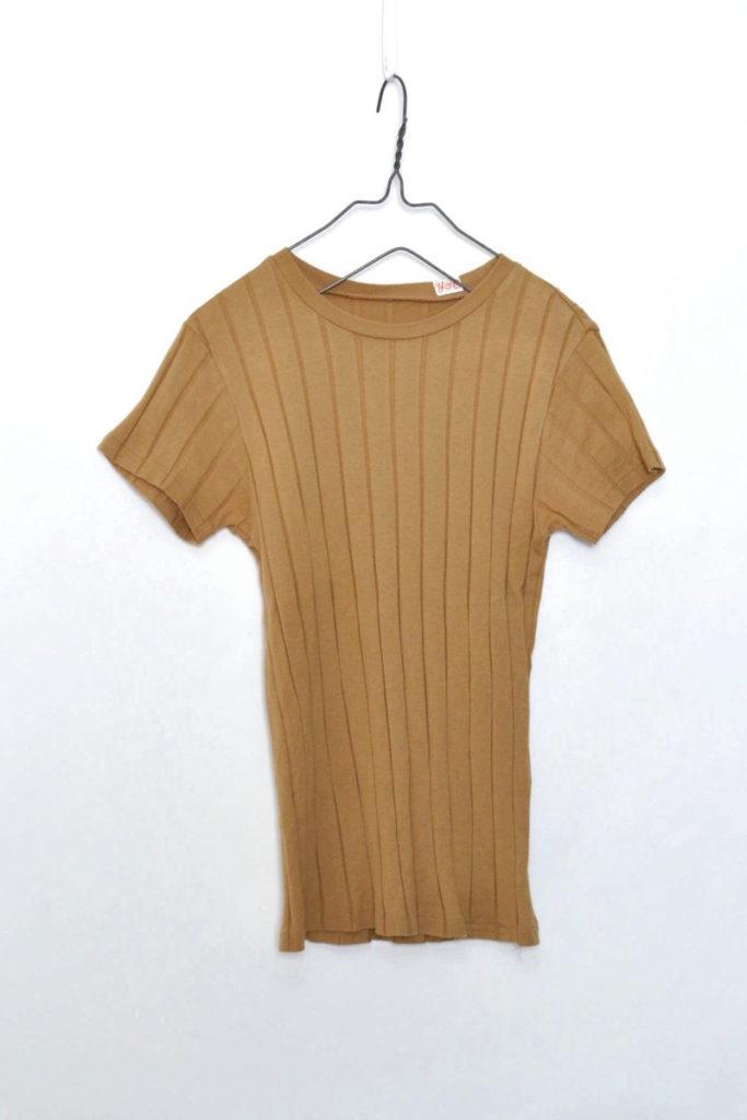 BROAD RIB CREW NECK リブクルーネックTシャツ