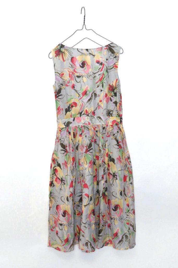 コットンシルク ノースリーブ花柄ワンピースの買取実績画像
