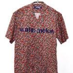 /02SS 1stコレクション/メッセージプリント 半袖オープンカラーシャツ