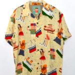 KEONI OF HAWAII / ハワイへ行こう レーヨンアロハシャツ