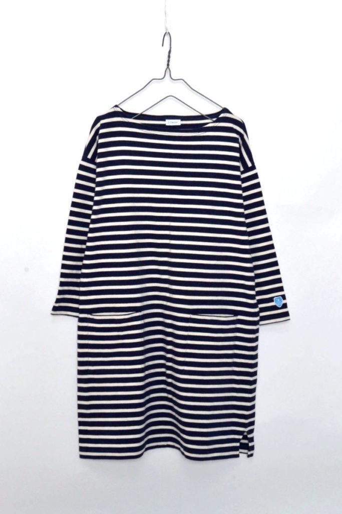 コットンロード ポケットワンピース バスクシャツ
