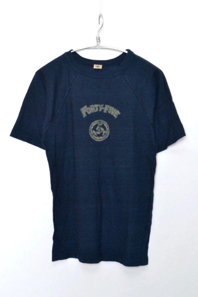ラグランスリーブ インディゴTシャツ