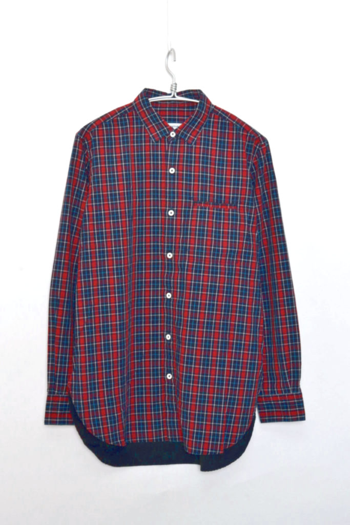 GARDENER LONG SHIRT COTTON TWILL TARTAN PLAID
