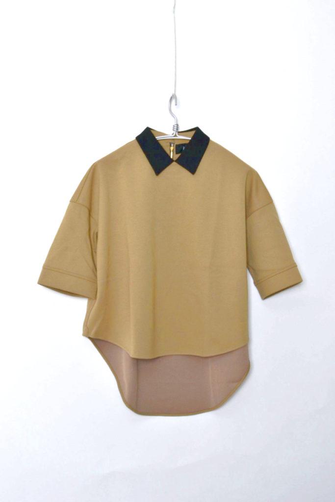 WITH COLLAR A-LINE DRESS クレリックカラー Aラインドレス シャツ