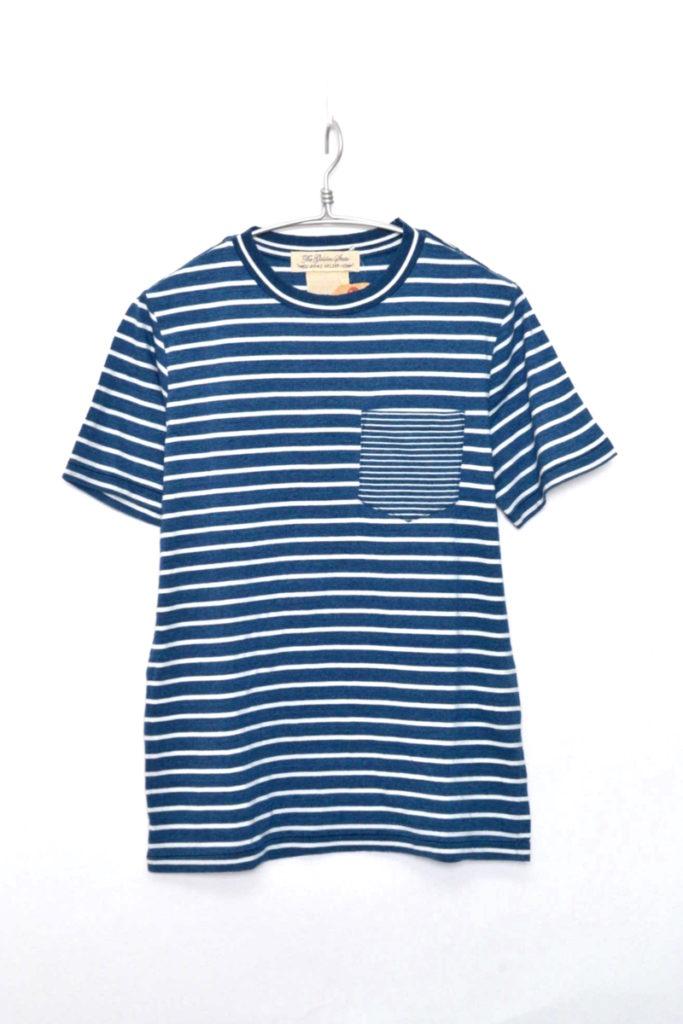 ハイゲージインディゴ天竺Tシャツ