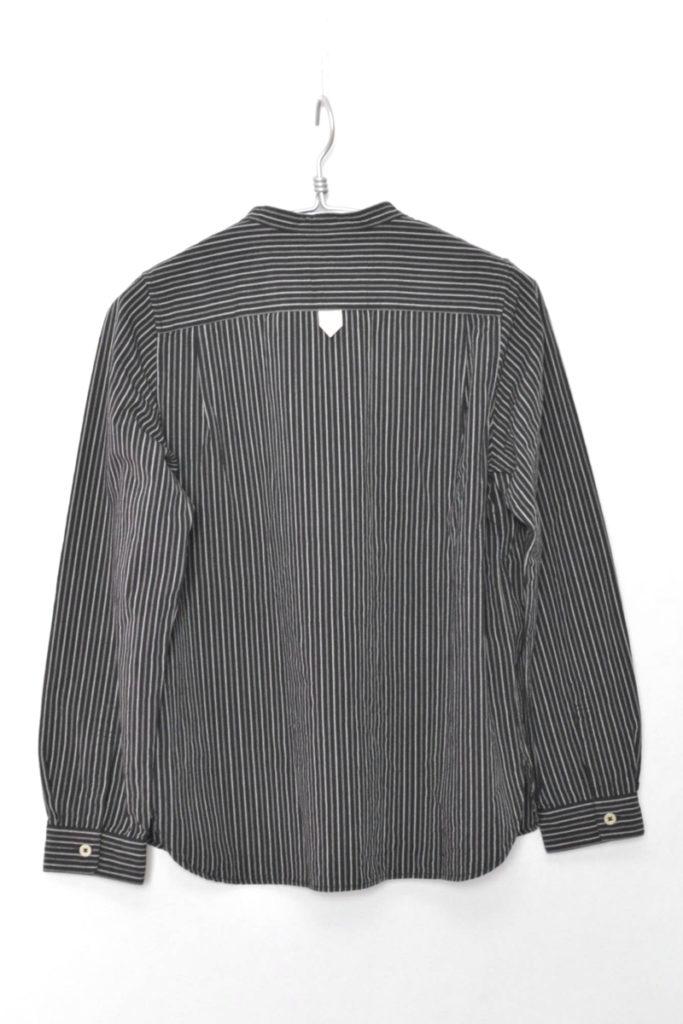 COTTON WOOL STRIPE コットンウールストライプ バンドカラーシャツの買取実績画像