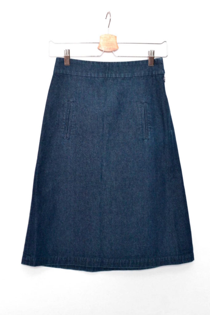 cotton denim tight skirt