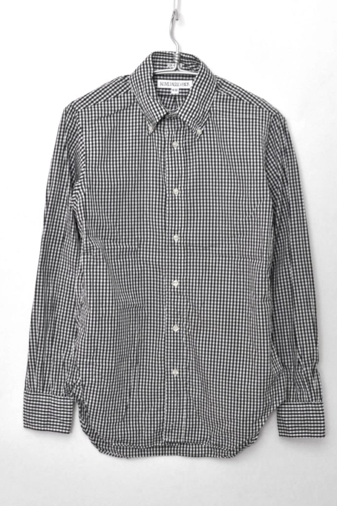 SLIM FIT スリムフィット ギンガムチェック BDシャツ