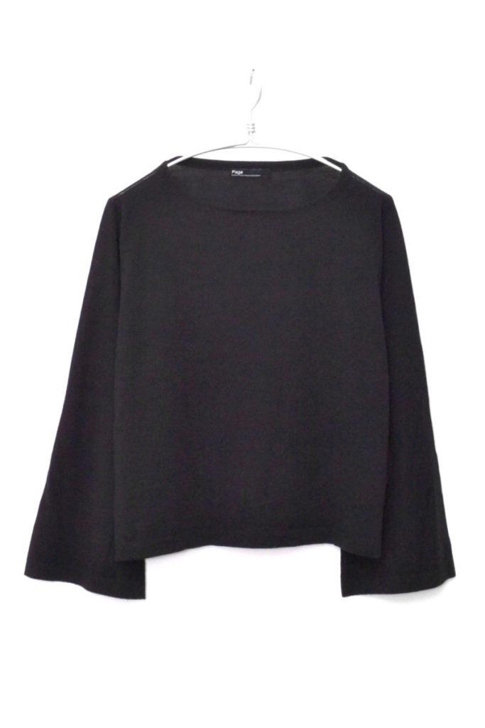 ベルスリーブニット セーター