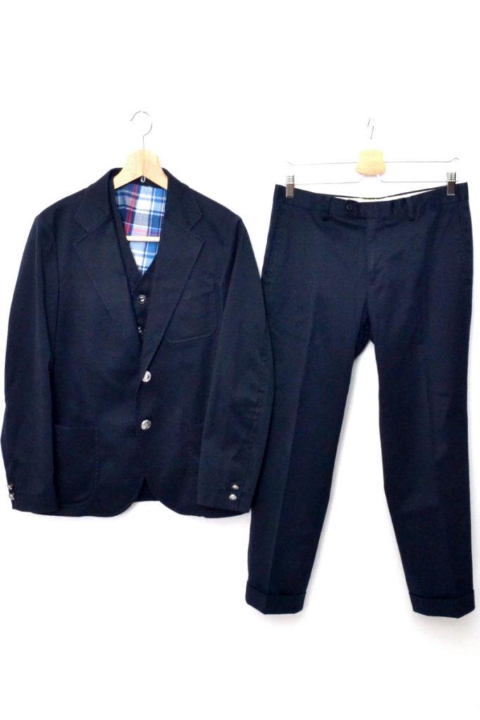 ホップサック2Bジャケット ジレ パンツ 3ピースセットアップの買取実績画像