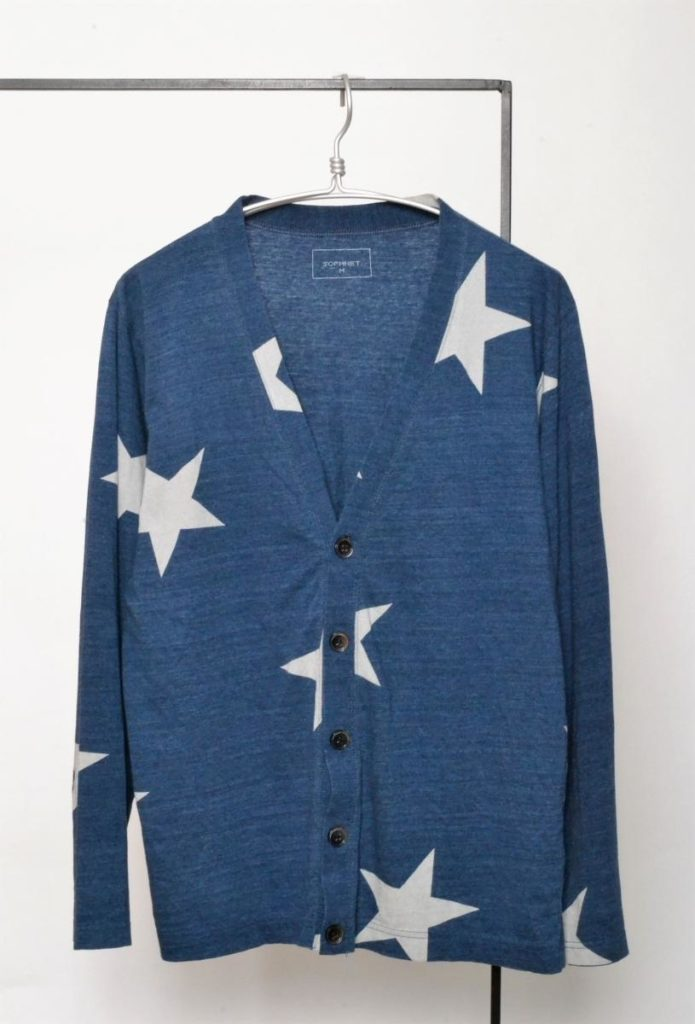 INDIGO BIG STAR CARDIGAN