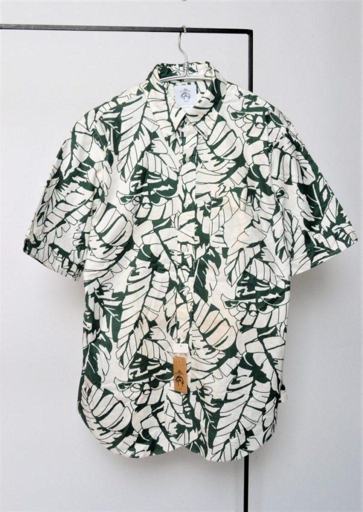 オックスフォード 総柄半袖 BDシャツ