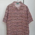 2004/ヤシの木ロゴ 木の葉柄 半袖 シャツ