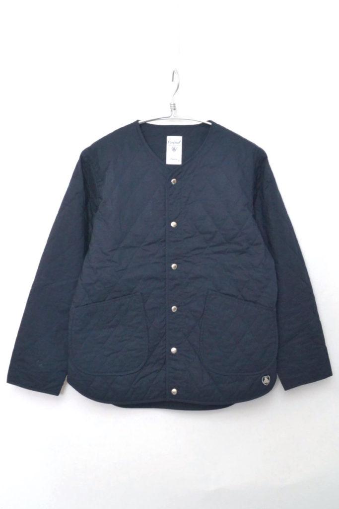 キルトカラーレスジャケット