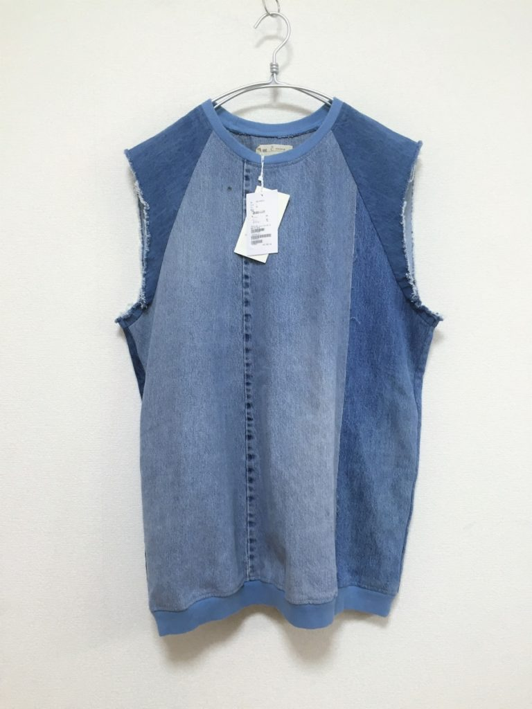 circa make cutback denim no sleeve one-piece リメイクデニム ワンピース