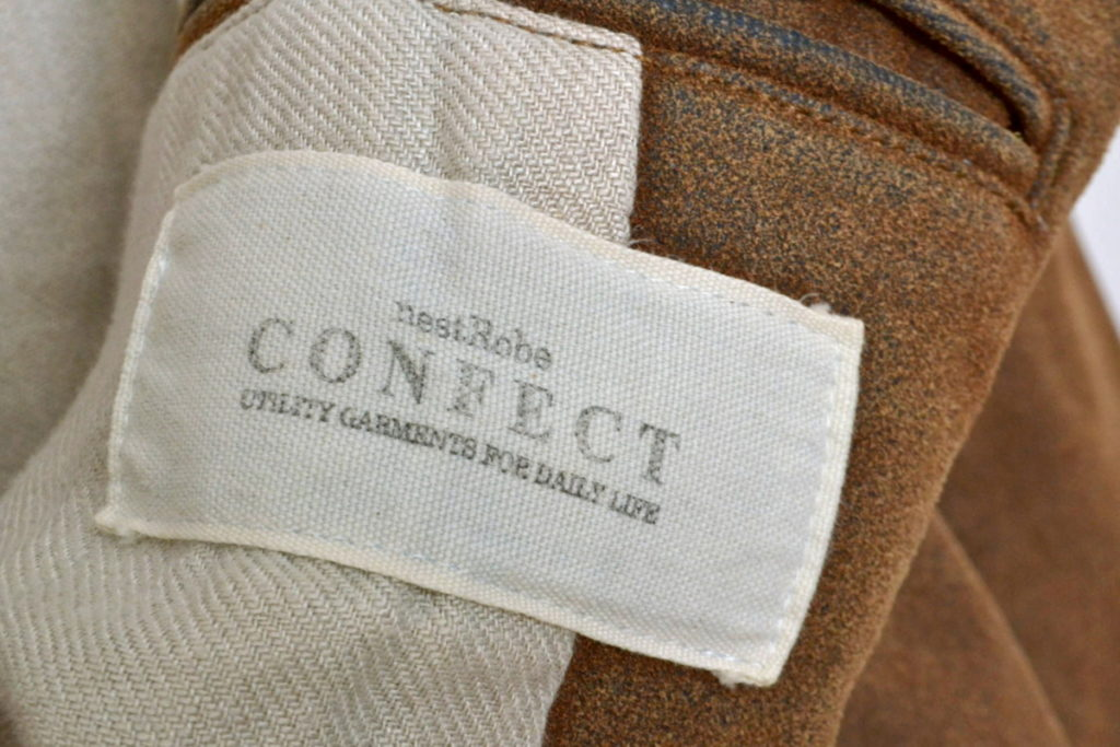 Leather Flocky Denim Chesterfield Coat フロッキーデニム チェスターコートの買取実績画像