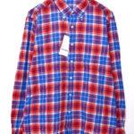 UEN PHYSICAL FITNESS B.D SHIRT チェック ボタンダウンシャツ