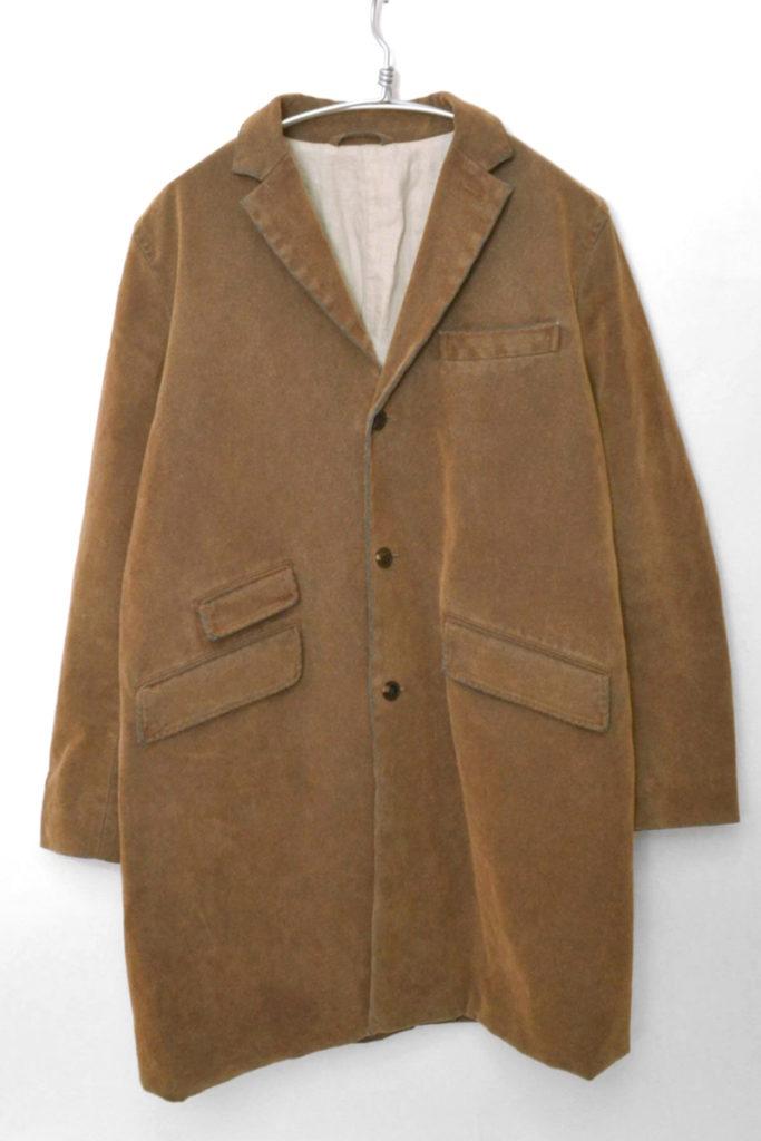 Leather Flocky Denim Chesterfield Coat フロッキーデニム チェスターコート