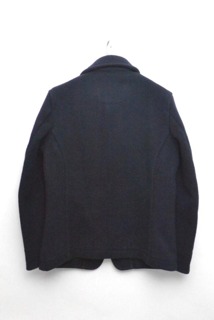 ウールモッサ ラウンドカラー シングルジャケット/38/ネイビーの買取実績画像