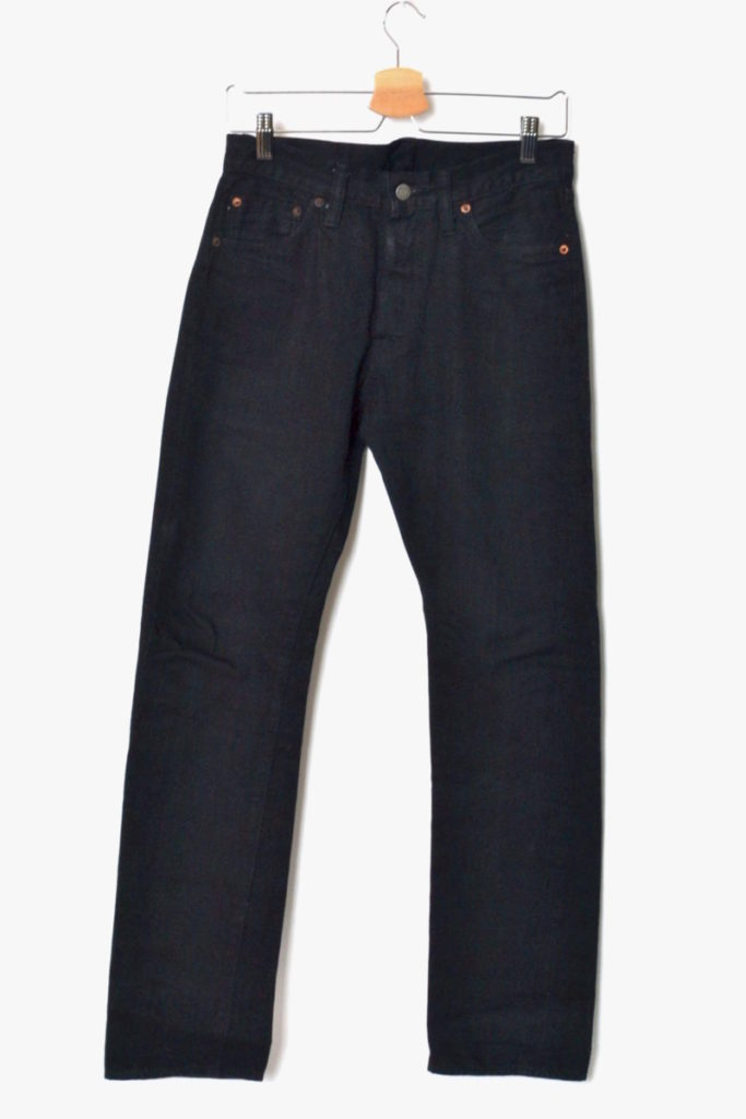 13oz. BLACK DENIM TYPE-III (SLIM FIT)#470
